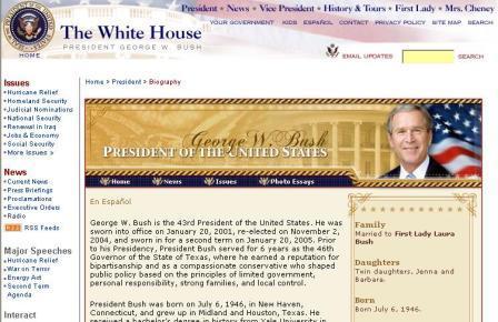 Google Calls President Bush Failure