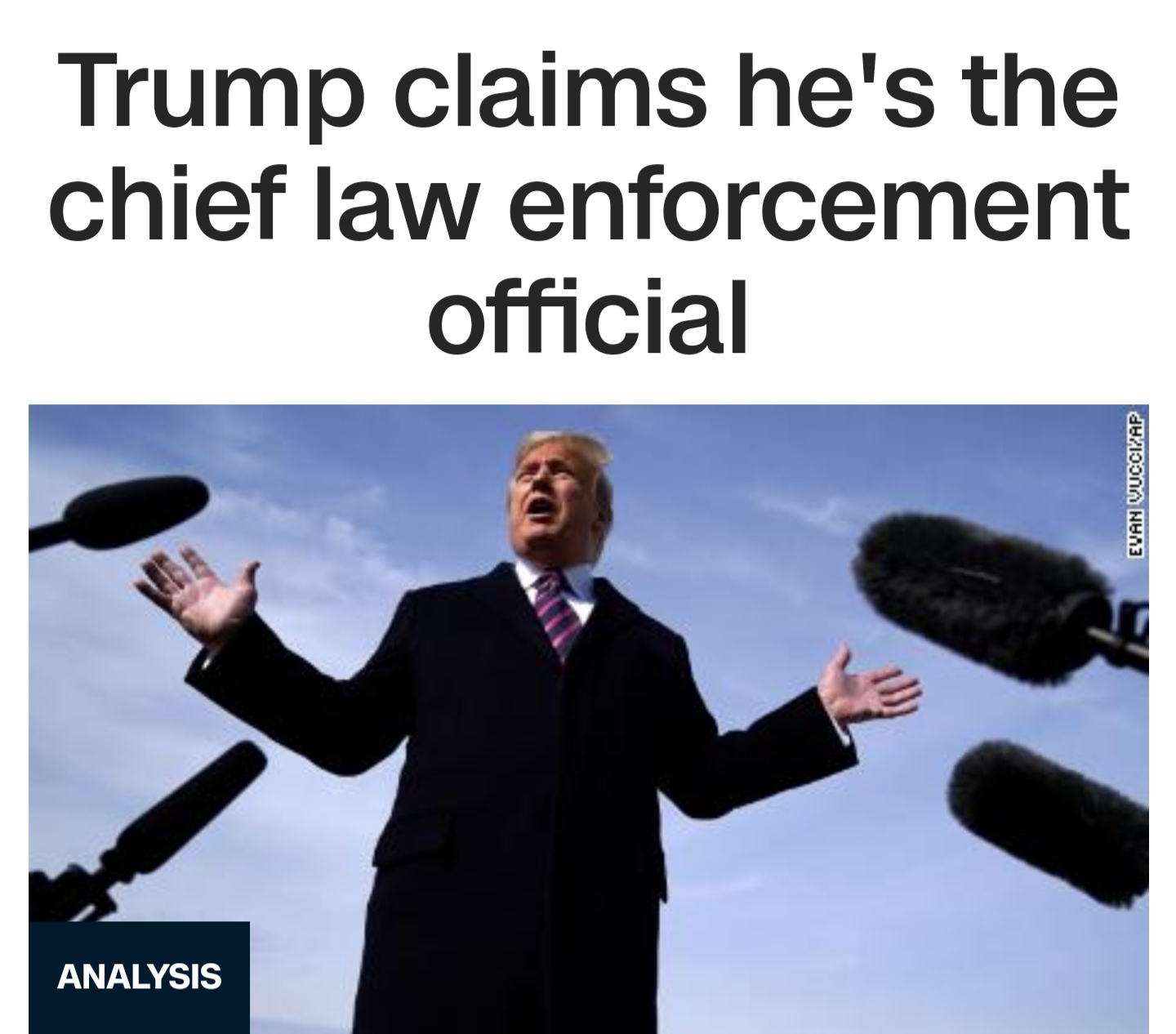 Conversations with the Clueless: Is Trump the Chief Law Enforcement Official?