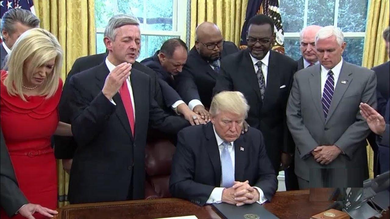 Trump Asks Prayers for Corona Outbreak Triggering Liberals